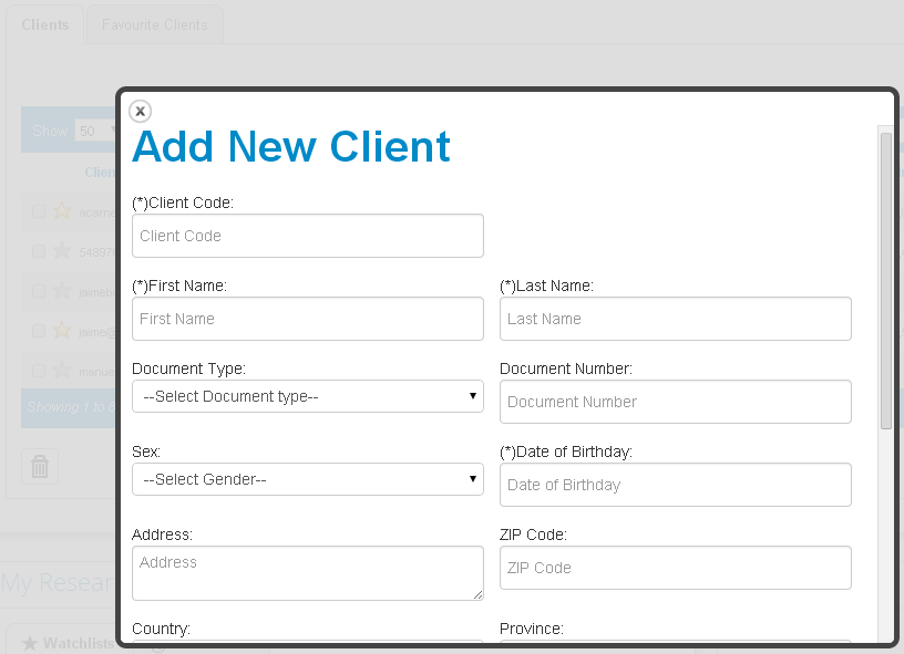 Financial Advisor functionality picture in T-Advisor
