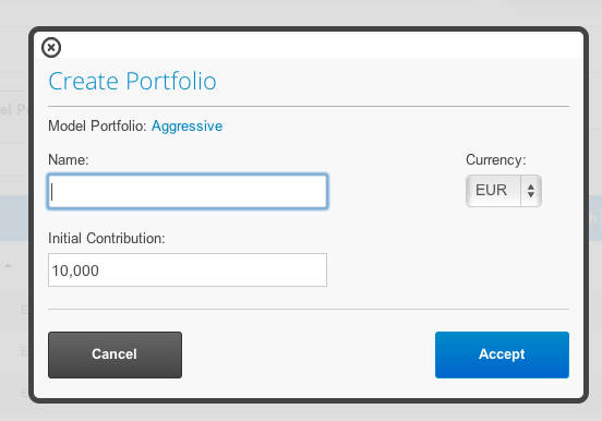 Box to clone portfolios in T-Advisor