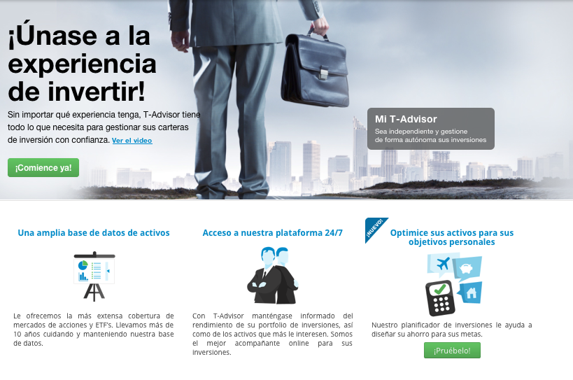Home de la web de T-Advisor