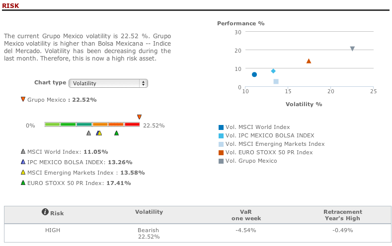 Grupo Mexico risk analysis in T-Advisor