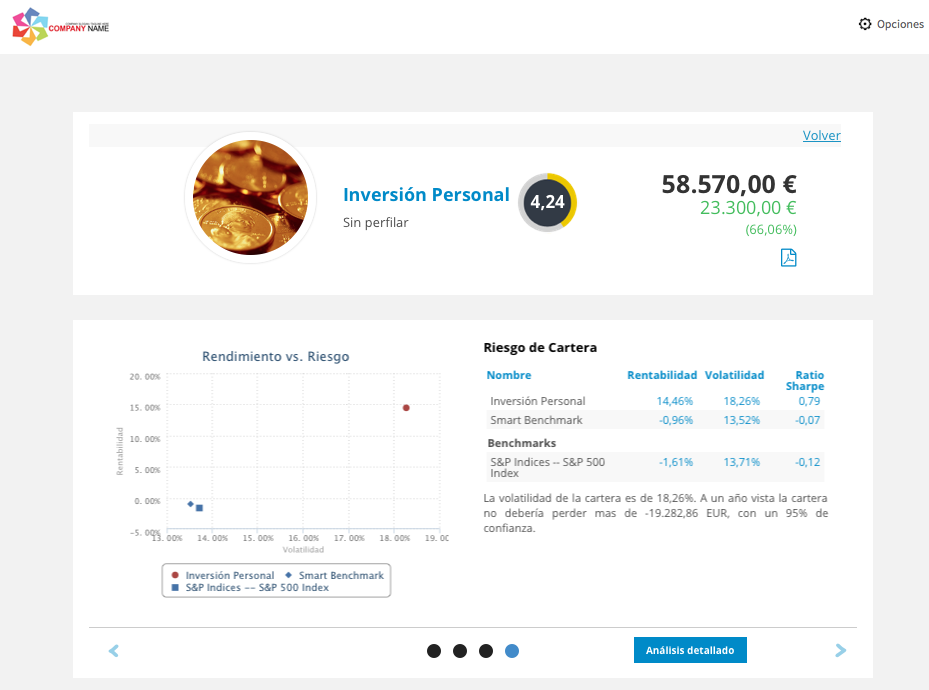T-Advisor screen as a platform for professionals
